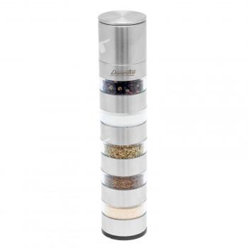 Manuální mlýnek MULTI na koření, pepř či sůl 5v1 Domestico