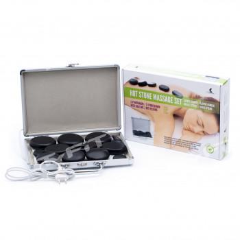 Lávové masážní kameny, sada 14 ks v samonahřívacím kufříku, HOT STONES, Catmotion
