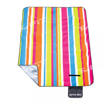 Spokey PICNIC RAINBOW Pikniková deka s popruhem, 180x210 cm