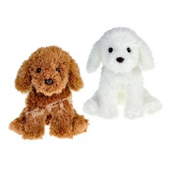 Pes plyšový 25 cm sedící - mix barev