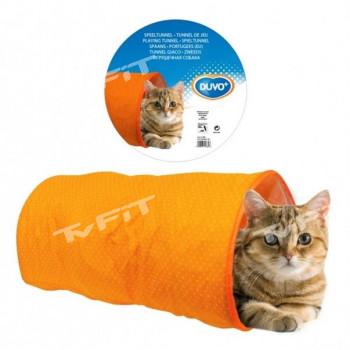 Tunel prolézací pro kočky oranžový Duvo+ 50 x 25 x 25 cm