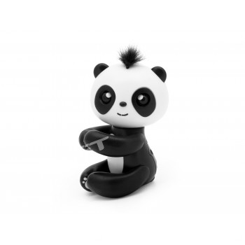 Kouzelná panda na prst - interaktivní hračka, černá