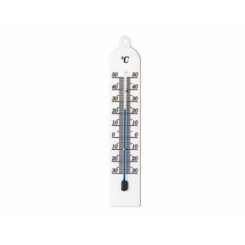 Teploměr pokojový plastový bílý 18cm