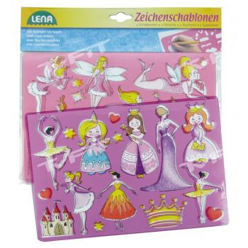 Lena Princezny, baletky kreslící šablony