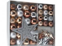 ozdoba vánoční (koule, špička, dekorace) sada 45díl. STŘ, ZLA, MĚĎ