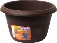 Plastia žardina samozavlažovací Siesta bez závěsu - čokoláda 35 cm