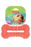 Hračka pes BONE MOOS TPR POP 16cm lososová Zolux