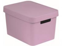 box úložný INFINITY 36,3x27x22,2cm s víkem, plastový, RŮŽ