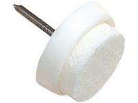 ochrana podlah filcová s hřebíčkem do nábytku 26mm BÍ (8ks) blistr