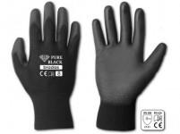 rukavice PURE BLACK PU 7 - VÝPRODEJ