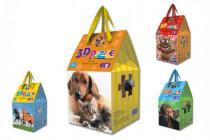 Puzzle 3D pěna 36 dílků v krabičce 10x17cm - mix variant či barev