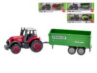 Traktor s vlečkou kov 16 cm volný chod - mix variant či barev