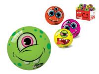 Míček Monster 11 cm s bláznivým obličejem - mix variant či barev