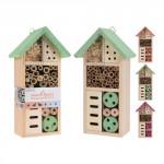 hotel hmyzí 26x13x8,5xcm dřevěný - mix barev