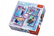 Puzzle 4v1 Frozen/Ledové Království Disney