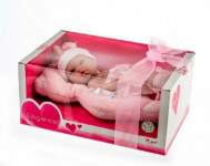 Panenka/miminko Arias vonící 33cm růžové pevné tělo