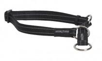 Obojek nylon reflexní polos. černý Buster 2,5 x 45-65 cm