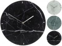 hodiny nástěnné pr.30cm dekor mramor skl. - mix barev