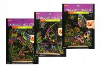 Škrabací obrázek duhový 20x25cm - mix variant či barev