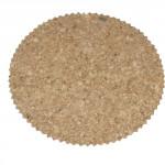 prostírání kruh 10cm zoubky korek (6ks)