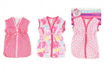 Taška/obleček na spaní látková pro miminko velikost +-30cm na kartě 25x38cm - mix barev