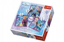 Puzzle 3v1 Frozen/Ledové Království 20x19,5cm