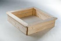 Pískoviště dřevo přírodní 4 sezení