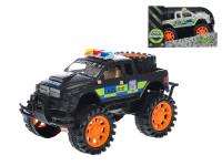 Auto terénní policie 24 cm na setrvačník - mix barev