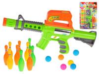 Pistole na kuličky 42 cm s kuželkami 10 ks