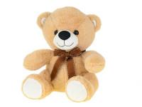 Medvěd plyšový 30 cm sedící s mašlí