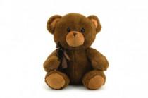 Medvěd/medvídek s mašlí plyš 40cm - mix barev - VÝPRODEJ
