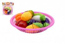 Krájecí ovoce a zelenina v košíku plast 20cm
