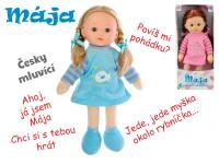 Panenka Mája mrkací 42 cm na baterie česky mluvící - mix barev