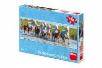 Puzzle běžící koně panoramic 66x23cm 150 dílků