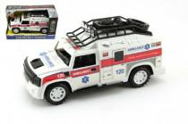 Auto ambulance plast 25cm na setrvačník na baterie se zvukem se světlem