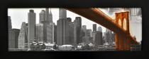 Obraz Brooklynský most v černém rámu 2100