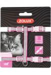 Postroj kočka SHINY nylon růžový Zolux