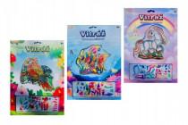 Vitráž kreativní obrázek 13x13cm - mix variant či barev
