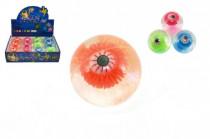 Míček/hopík oko svítící 7cm - mix variant či barev