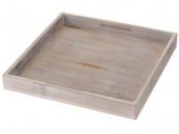 podnos dekorační 25x25x3cm dřevěný ŠE