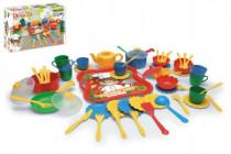 Kuchyňský set nádobí 59ks plast v krabici 59,5x40cm 12m+
