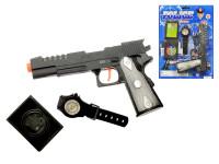 Sada policejní - pistole 20 cm klapací + 2 doplňky