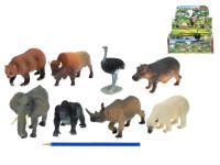 Zvířátka safari/ZOO plast 10-18cm - mix variant či barev