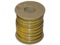 šňůra izolační 12x4mm (500°C) lepicí (25m)