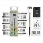 lampa solární v.36,5cm, 1LED, nerez (7ks)