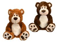 Medvěd plyšový 67 cm sedící - mix barev