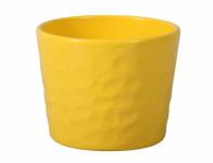 Obal na květník NEAPOL keramický žlutý lesklý d15x13cm