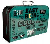 Kufřík Cool kníry zeleno/černý 35 cm