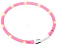Obojek plast svítící - růžový Flamingo 70 cm