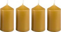 Svíčka adventní 40x75 mm - medově světá - 4 ks